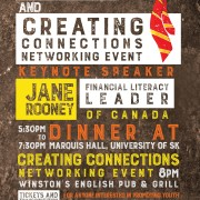SBTA Dinner  Creating Connections Networking Event Poster