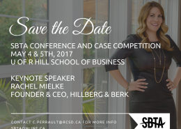 Save the Date - 2017 SBTA Conference and High School Case Competition